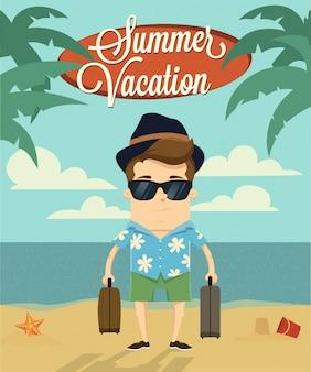 Sommerurlaub mit charakter-design