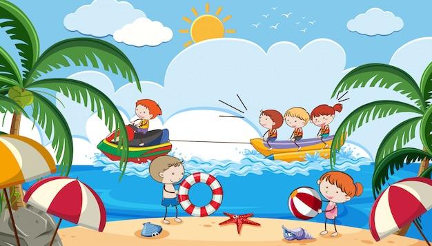 Sommerurlaub mit kinderaktivitäten