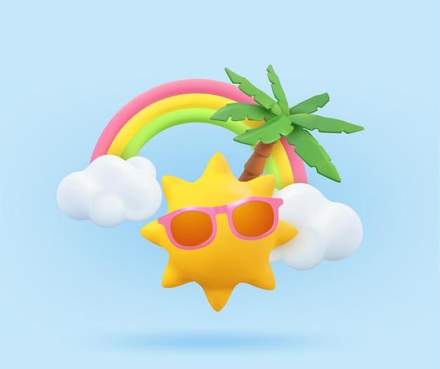 Sommerurlaub realistische designvorlage