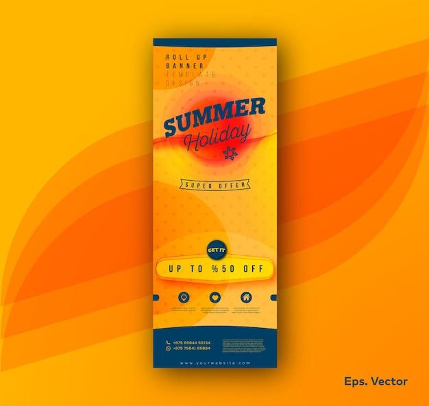 Sommerurlaub roll up banner vorlage
