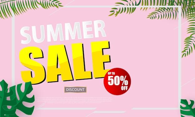 Sommerverkauf banner vektor-illustration