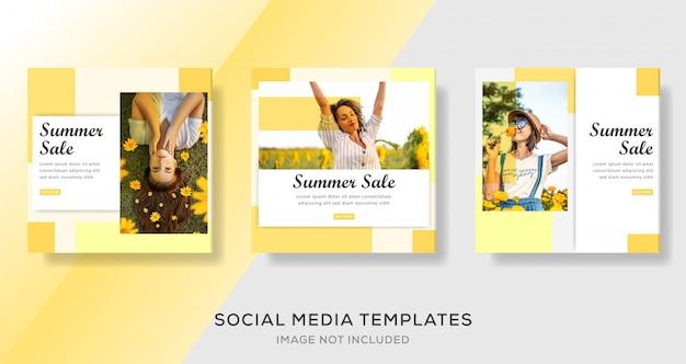 Sommerverkauf banner vorlage premium