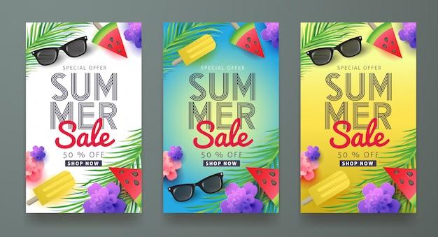 Sommerverkauf banner vorlage.