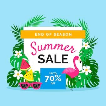 Sommerverkauf flaches design