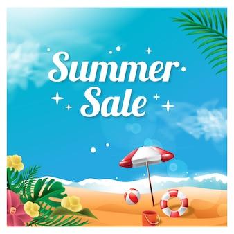 Sommerverkauf hintergrund