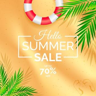 Sommerverkauf im realistischen stil