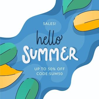 Sommerverkauf in flachem design