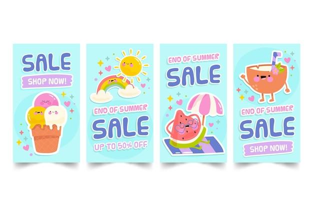 Sommerverkauf instagram geschichten sammlung