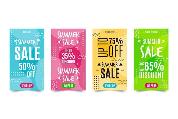 Sommerverkauf instagram story design