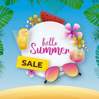 Sommerverkauf realistischer stil