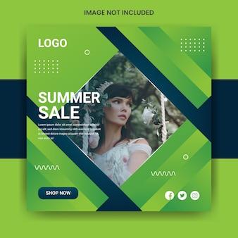 Sommerverkauf social media post vorlage