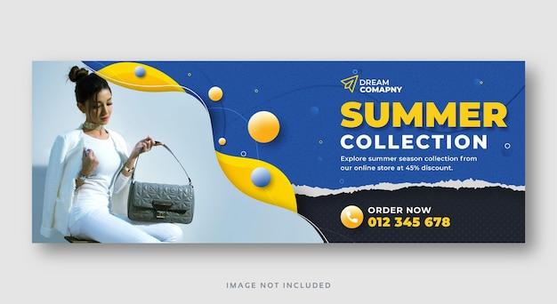 Sommerverkauf social media web banner vorlage