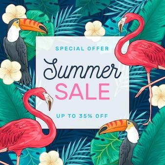 Sommerverkauf ziehen