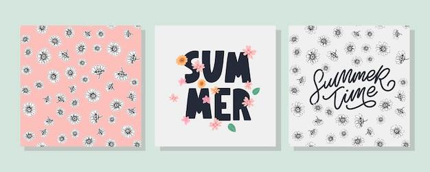 Sommerverkaufsbanner mit blumen