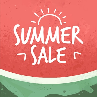 Sommerverkaufsgrund mit wassermelone