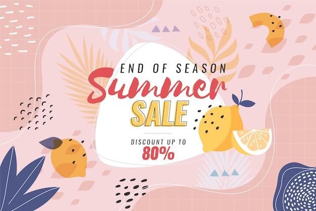 Sommerverkaufskonzept zum saisonende