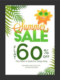 Sommerverkaufsplakat