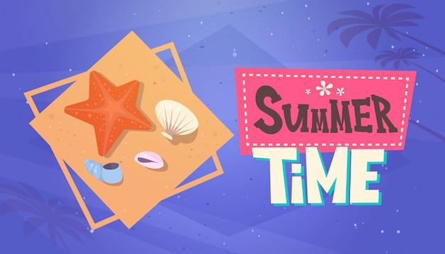 Sommerzeit-ferien-seereisen-retro- fahnen-küstenurlaub