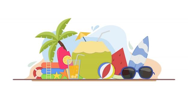 Sommerzeit illustration