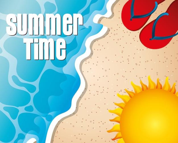Sommerzeit-konzept