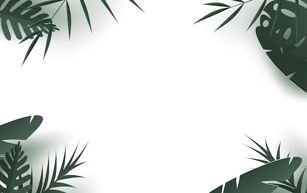 Sommerzeit mit palmblatt