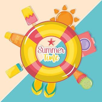 Sommerzeit mit urlaubselementen