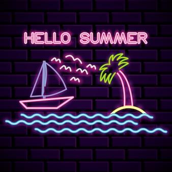 Sommerzeit-neonlichter