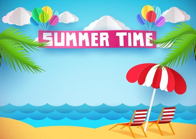 Sommerzeit oder hintergrund