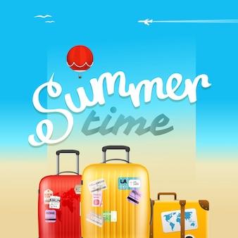Sommerzeit-plakat
