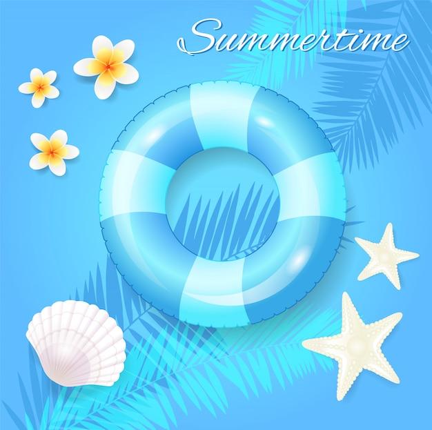 Sommerzeit saisonale illustration
