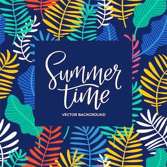 Sommerzeit schriftzug hintergrund