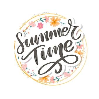 Sommerzeit schriftzug