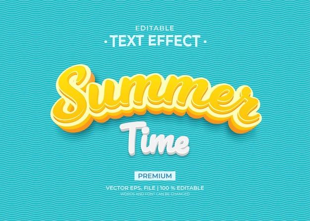 Sommerzeit-texteffektvorlage