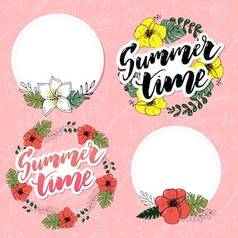 Sommerzeit-vektor-fahnendesign