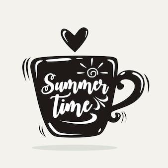 Sommerzeit-vektor-illustration