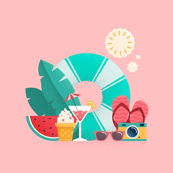 Sommerzeitillustration