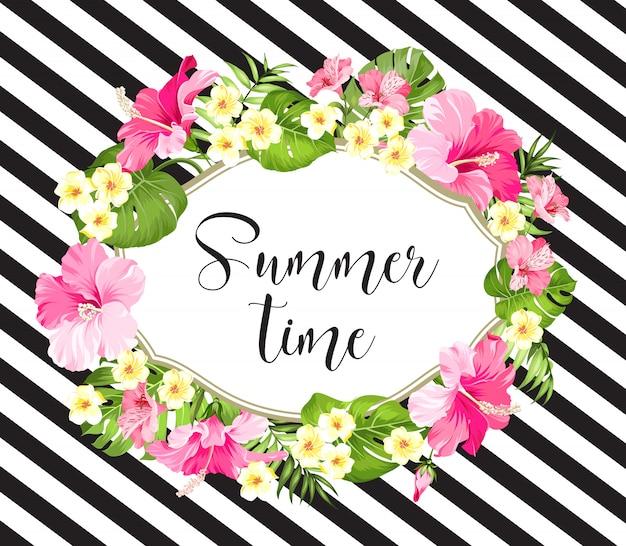 Sommerzeitkarte.