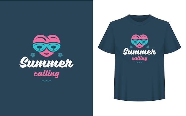Sommerzitat oder spruch kann für t-shirts, tassen, grußkarten, foto-overlays, dekordrucke und poster verwendet werden. sommer, der nachricht, vektorillustration anruft.