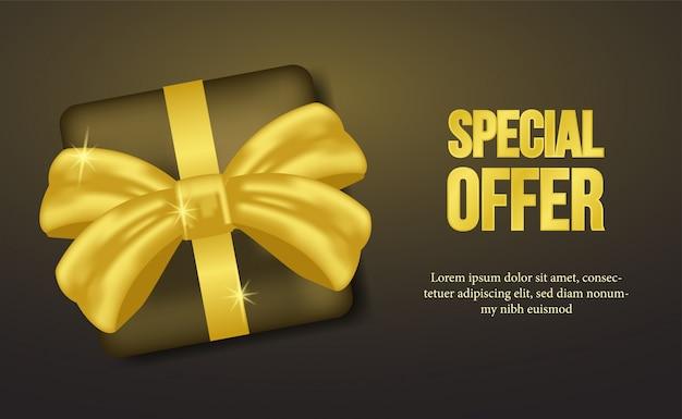 Sonderangebot mit geschenkbox und goldenem band