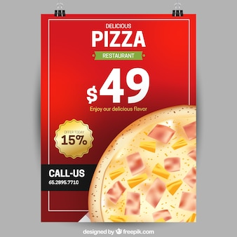 Sonderangebot pizza flyer