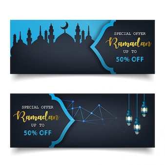 Sonderangebot ramadan sale islamic banner template