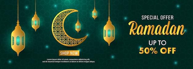 Sonderangebot ramadan verkauf islamische banner vorlage