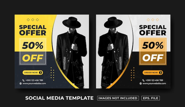 Sonderangebot social-media-post-design-vorlage premium-vektor