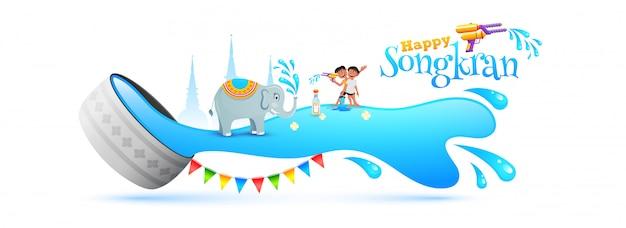 Songkran festival konzept.
