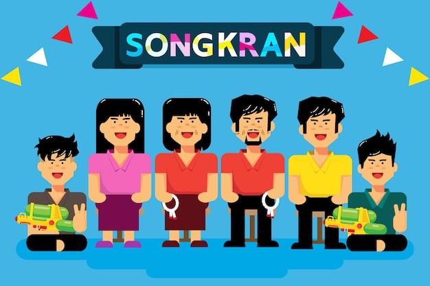 Songkran ist thailändisches neujahr