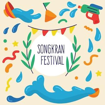 Songkran mit wasserpistolen