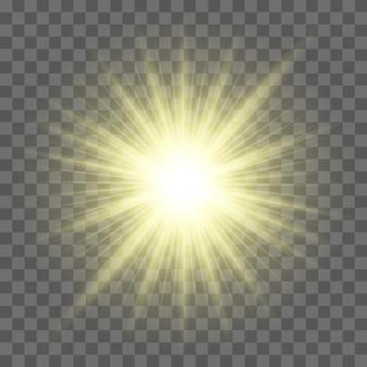 Sonne mit linseneffekt
