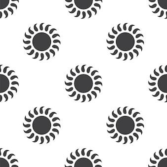 Sonne, nahtloses vektormuster, editierbar kann für webseitenhintergründe verwendet werden, musterfüllungen