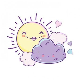 Sonne und wolken cartoons