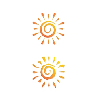 Sonne vektor-illustration symbol logo template-design